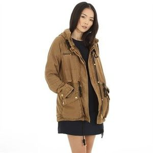 Pimkie Utility Parka with Hood in Tan